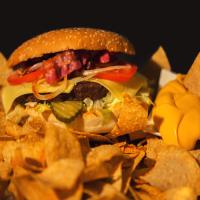227g Texas BBQ Burger mit Nachos
